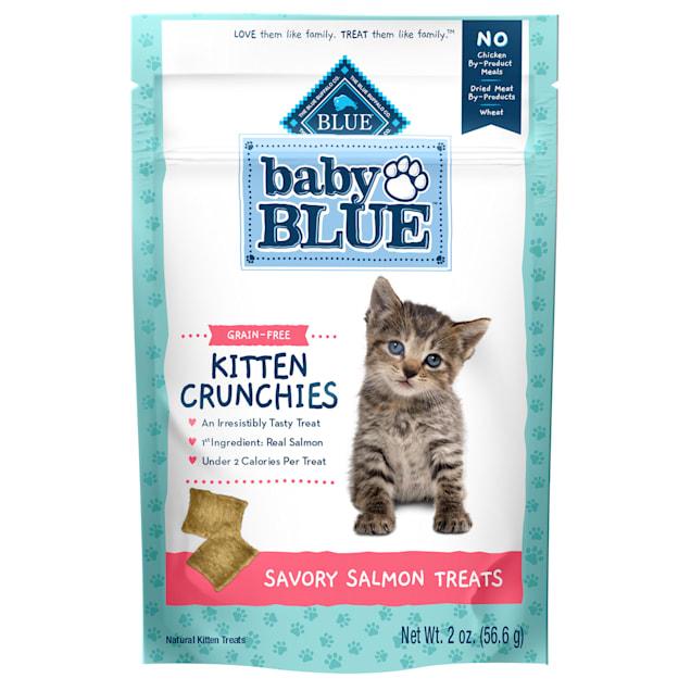 Blue Buffalo Baby Blue Crunchies Natural Grain Free Savory Salmon Kitten Treats, 2 oz. - Carousel image #1