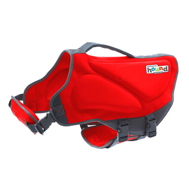 Outward Hound Dawson Swim Red Life Jacket for Dogs, X-Small - Carousel image #1