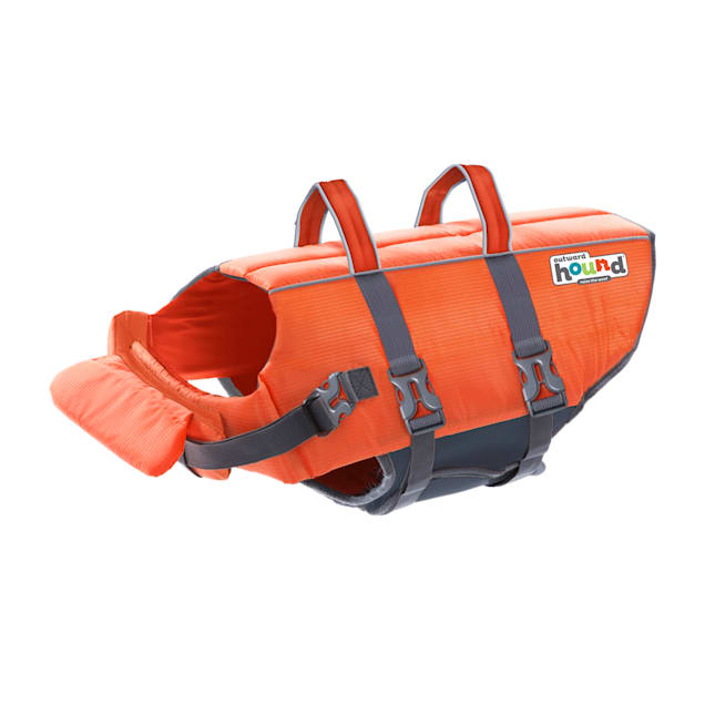 Outward Hound Granby Splash Orange Ripstop Life Jacket for Dogs, X-Small - Carousel image #1