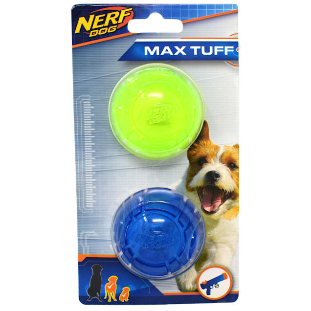 Nerf Transparent TPR Ultra Sonic Balls Dog Toy, Small, Pack of 2 - Carousel image #1