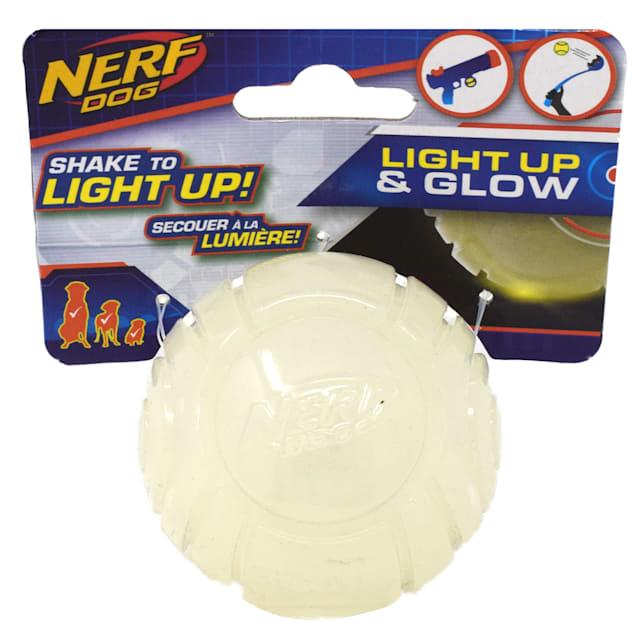 Nerf TPR Lightning LED Glow Ball Dog Toy, Small - Carousel image #1