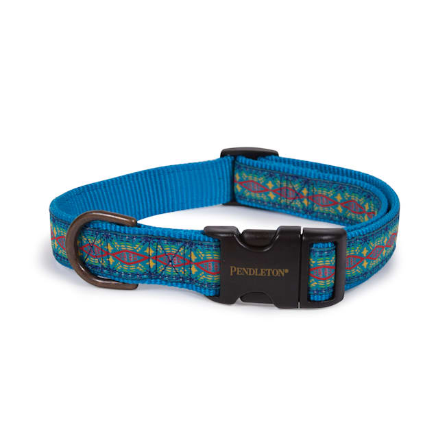 Pendleton Diamond River Turquoise Dog Collar, Small - Carousel image #1