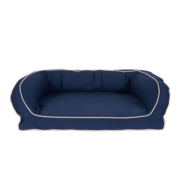 "Carolina Pet Company Orthopedic Classic Canvas Bolster Dog Bed in Blue, 27"" L X 36"" W X 10.5"" H - Carousel image #1"