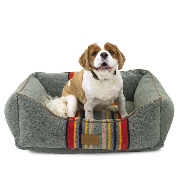 "Pendleton Yakima Camp Heather Green Kuddler Dog Bed, 24"" L X 30"" W X 9"" H - Carousel image #1"