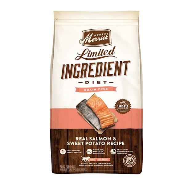 Merrick Grain Free Limited Ingredient Diet Salmon & Sweet Potato Recipe Dry Dog Food, 22 lbs. - Carousel image #1