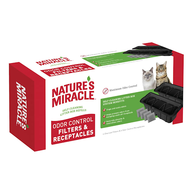 Nature's Miracle Pet Odor Control Filters & Receptacles, 4 Count - Carousel image #1