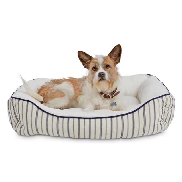 "Harmony Blue Nautical Striped Nester Dog Bed, 32"" L X 24"" W - Carousel image #1"