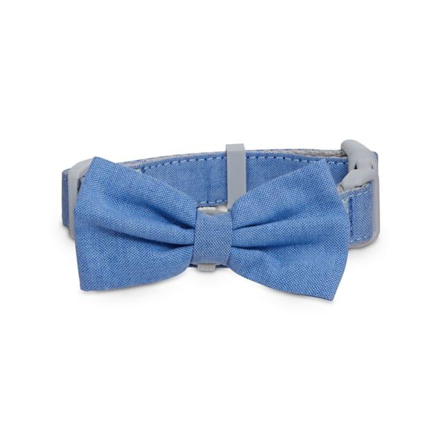 Good2Go Blue Chambray Dog Collar, Small - Carousel image #1