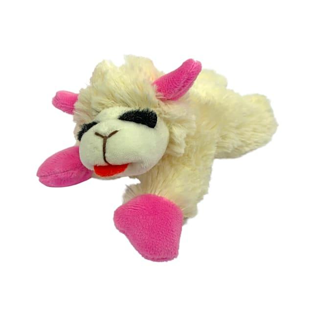 Multipet International Plush Pink Puppy Lamb Chop Toy, Small - Carousel image #1