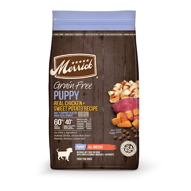 Merrick Grain Free Real Chicken & Sweet Potato Recipe Dry Puppy Food, 22 lbs. - Carousel image #1