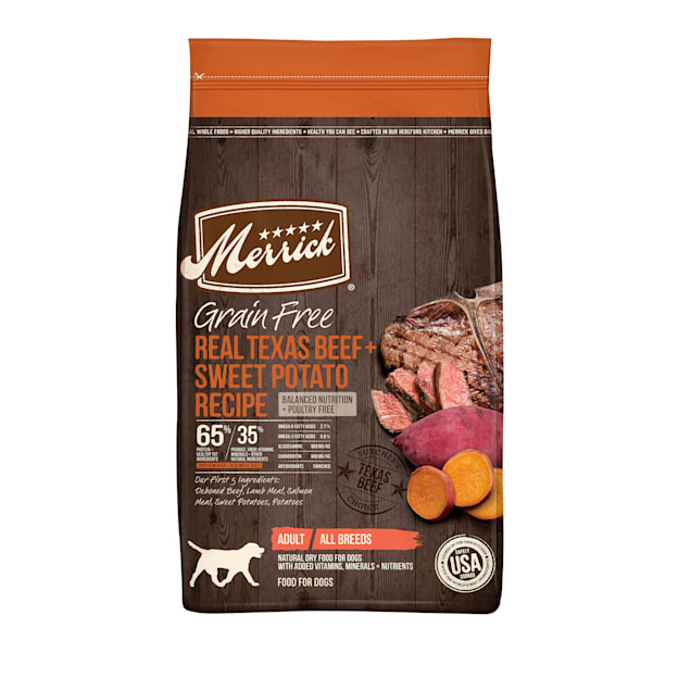 Merrick Grain Free Real Texas Beef + Sweet Potato Dry Dog Food, 10 lbs. - Carousel image #1