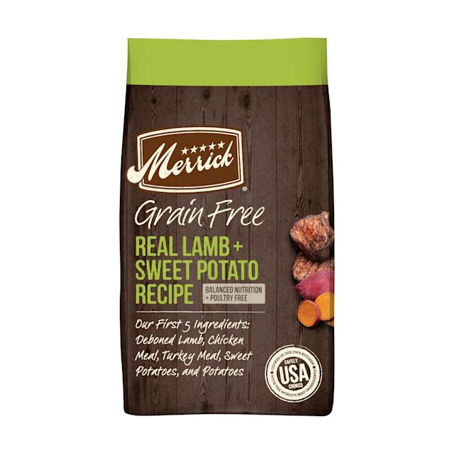 Merrick Grain Free Real Lamb & Sweet Potato Recipe Dry Dog Food, 22 lbs. - Carousel image #1