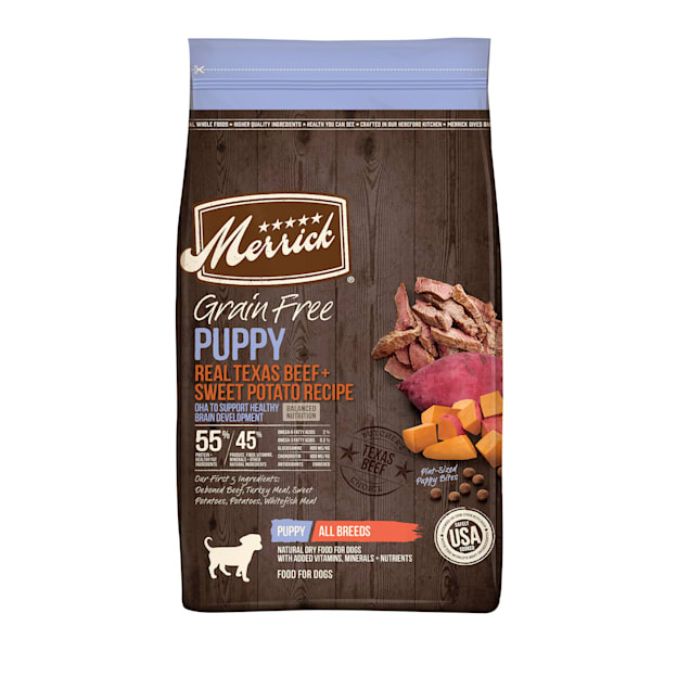 Merrick Grain Free Real Beef & Sweet Potato Recipe Dry Puppy Food, 22 lbs. - Carousel image #1