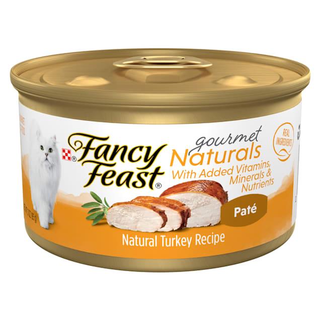 Purina Fancy Feast Gourmet Naturals Turkey Recipe Pate Wet Cat Food, 3 oz., Case of 12 - Carousel image #1