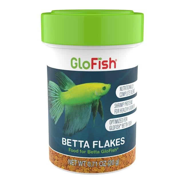 GloFish Betta Flakes Tropical Fish Food, 0.71 oz. - Carousel image #1