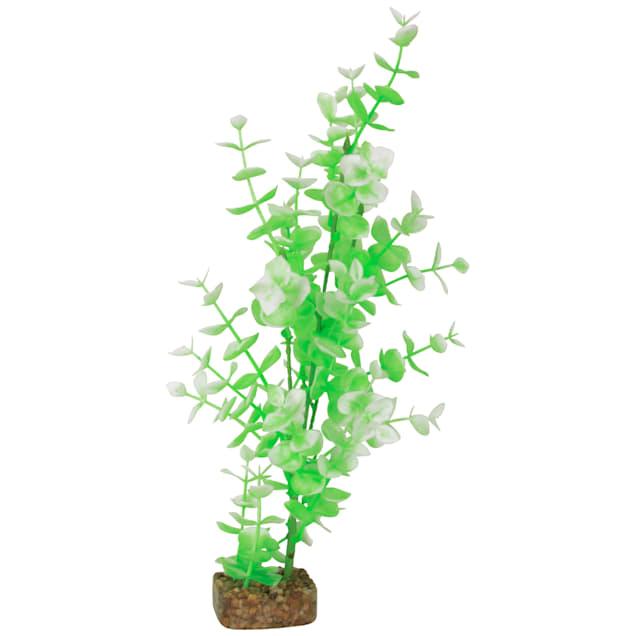 GloFish Green And White Plant Fluorescent Under Blue LED Light Aquarium Decor, Large - Carousel image #1