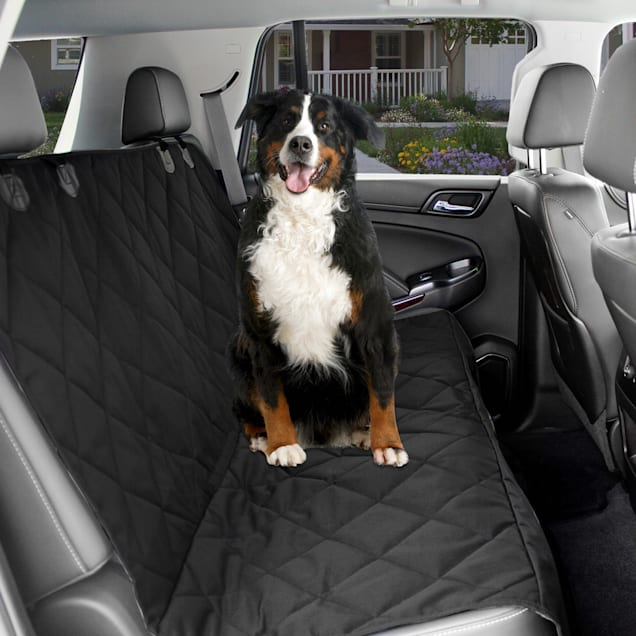 "Kopeks Waterproof Non Slip Padded Quilted Protector with Seat Anchors and Head Straps Dog Car Black Seat Cover, 58"" L X 53"" W - Carousel image #1"