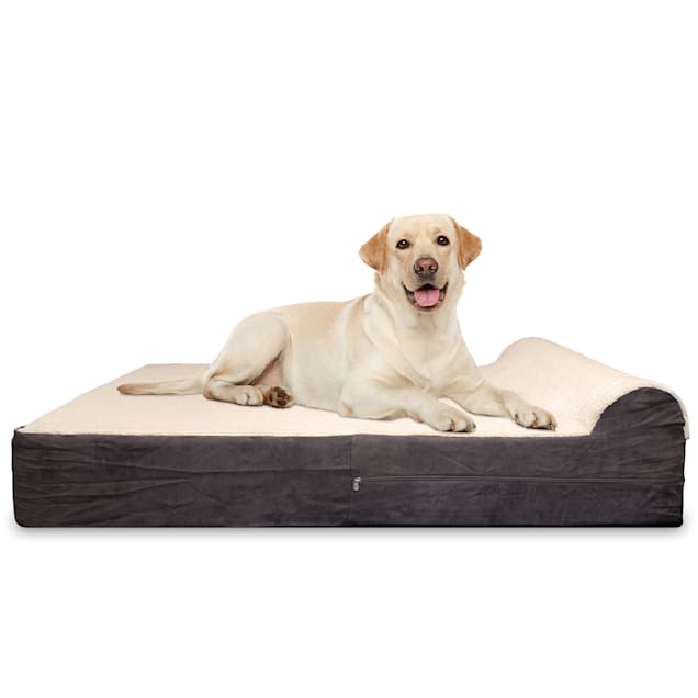 "Kopeks Orthopedic Memory Foam Dog Bed With Pillow, 50"" L X 34"" W X 7"" H - Carousel image #1"