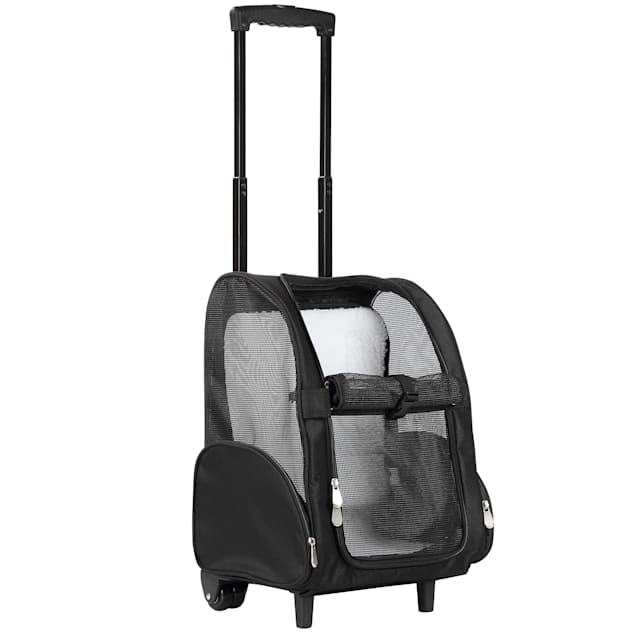 "Kopeks Black Deluxe Backpack Pet Travel Carrier with Double Wheels, 13"" L X 12"" W X 20"" H - Carousel image #1"