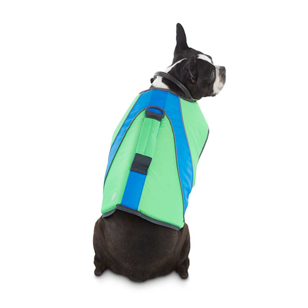 YOULY The Beach Bum Green & Blue Dog Flotation Vest, XX-Small - Carousel image #1