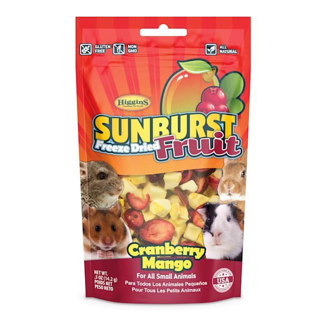 Higgins Sunburst Freeze Fried Fruit Cranberry Mango Small Animal Treat, 0.5 oz. - Carousel image #1