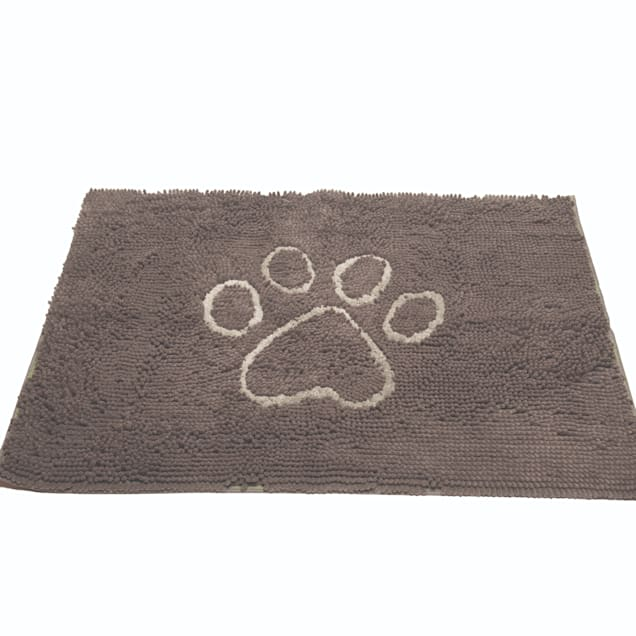 """Dog Gone Smart Dirty Dog Misty Grey Doormat for Dogs, 31"""" L X 20"""" W - Carousel image #1"""