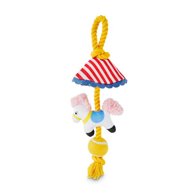 Bond & Co. County Fair Classics Merry-Go-Round Plush & Rope Dog Toy, X-Large - Carousel image #1