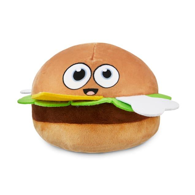 Bond & Co. County Fair Classics So Cheesy Burger Plush Dog Toy, Small - Carousel image #1