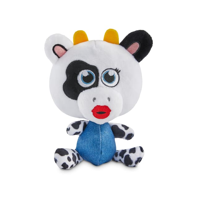 Bond & Co. County Fair Classics A-Moo-Sing Cow Bobble Plush Dog Toy, Small - Carousel image #1