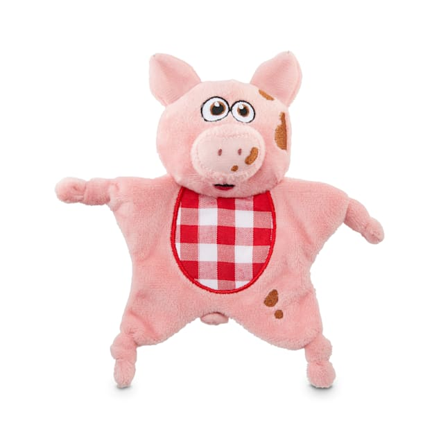 Bond & Co. County Fair Classics Get Piggy With It Pig Flattie Plush Dog Toy, Small - Carousel image #1