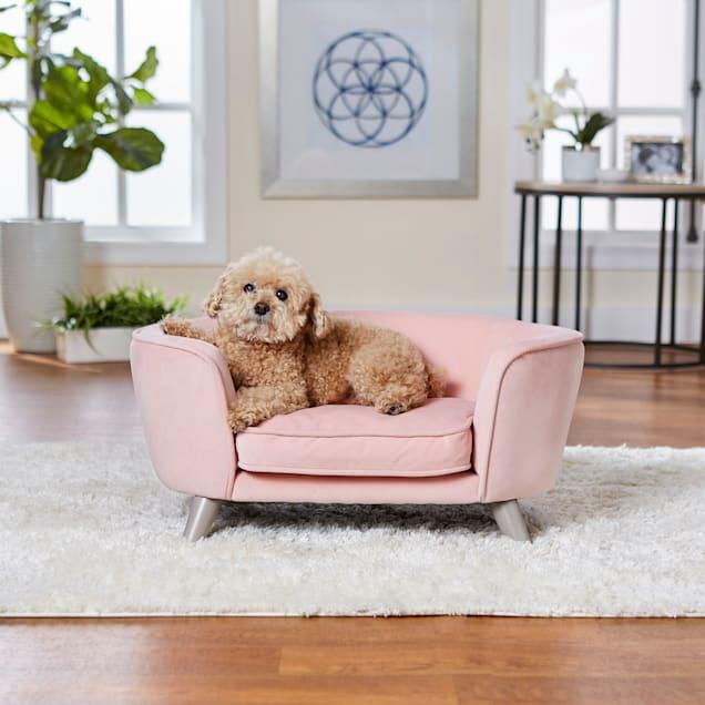 "Enchanted Home Pet Blush Romy Pet Sofa, 26.5"" L X 16"" W X 12"" H - Carousel image #1"