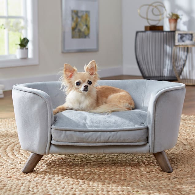 "Enchanted Home Pet Grey Romy Pet Sofa, 26.5"" L X 16"" W X 12"" H - Carousel image #1"
