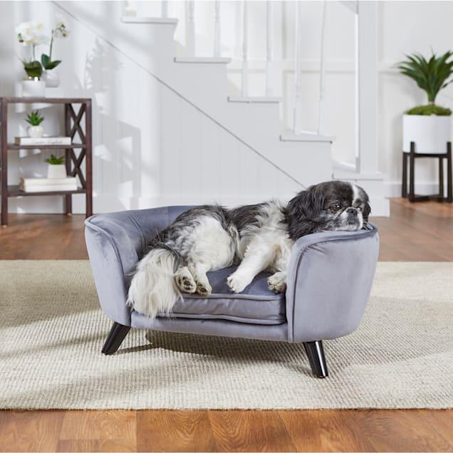 "Enchanted Home Pet Pewter Romy Pet Sofa, 26.5"" L X 16"" W X 12"" H - Carousel image #1"
