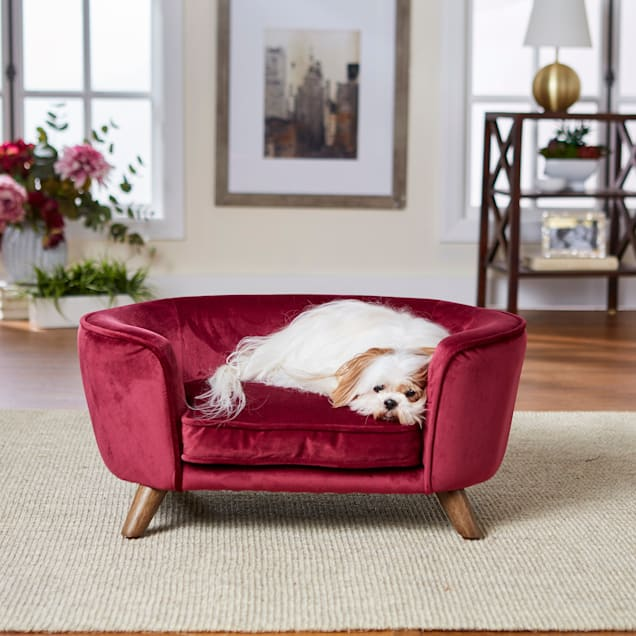 "Enchanted Home Pet Wine Romy Pet Sofa, 26.5"" L X 16"" W X 12"" H - Carousel image #1"