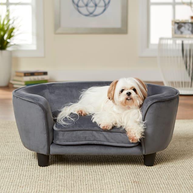 "Enchanted Home Pet Dark Grey Coco Pet Sofa, 26.5"" L X 16"" W X 11"" H - Carousel image #1"
