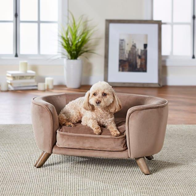 "Enchanted Home Pet Beige Romy Pet Sofa, 26.5"" L X 16"" W X 12"" H - Carousel image #1"