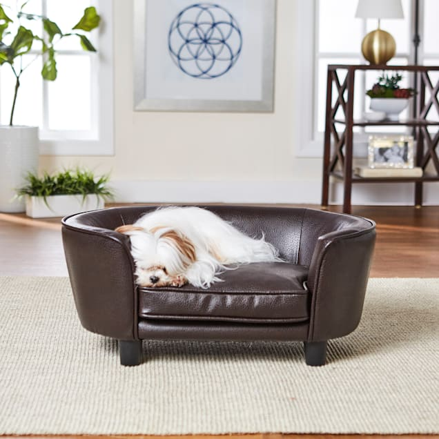 "Enchanted Home Pet Pebble Brown Coco Pet Sofa, 26.5"" L X 16"" W X 11"" H - Carousel image #1"
