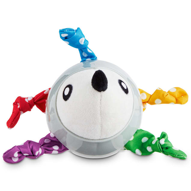 Leaps & Bounds Living on the Hedge Rubber-Wrapped Plush Puppy Toy, Small - Carousel image #1