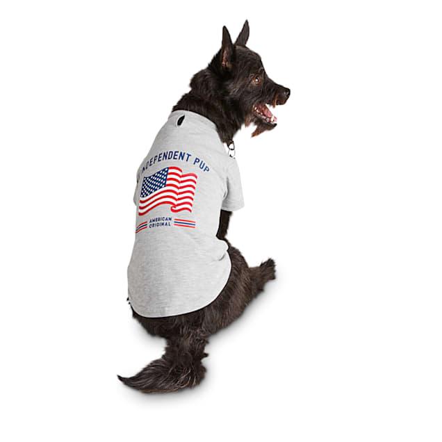 Bond & Co. Grey American Flag Dog T-Shirt, X-Small - Carousel image #1