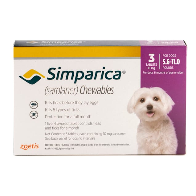Simparica Chewable for Dogs 5.6-11 lbs, 3 Month Supply - Carousel image #1