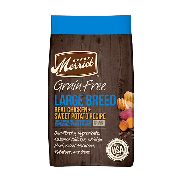 Merrick Grain Free Real Chicken & Sweet Potato Recipe Large Breed Dry Dog Food, 22 lbs. - Carousel image #1