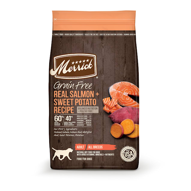 Merrick Grain Free Real Salmon & Sweet Potato Recipe Dry Dog Food, 22 lbs. - Carousel image #1