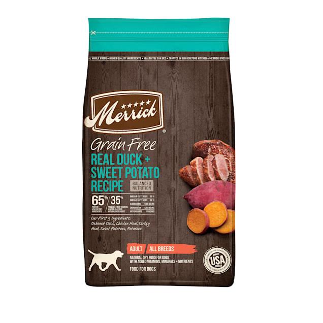 Merrick Grain Free Real Duck & Sweet Potato Recipe Dry Dog Food, 22 lbs. - Carousel image #1