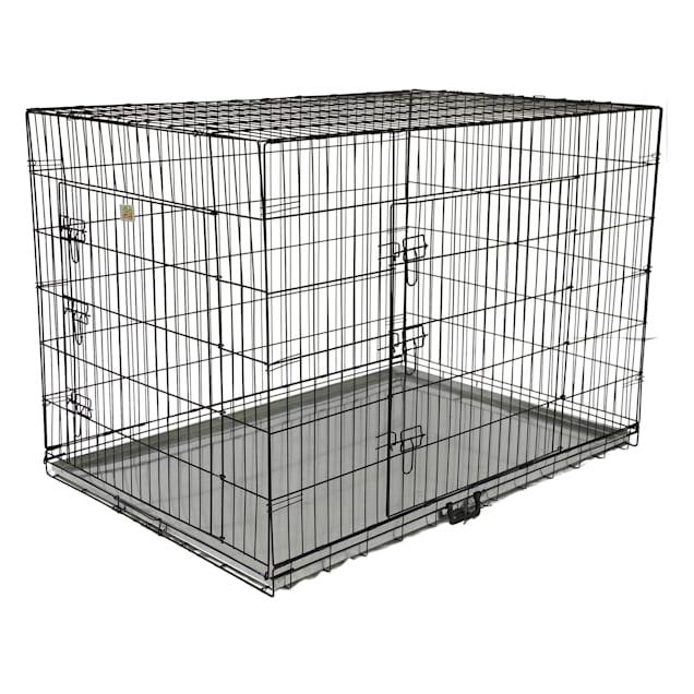 "Go Pet Club Foldable Metal Dog Crate with Metal Pan, 54"" L X 37"" W X 39"" H - Carousel image #1"