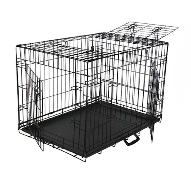 "Go Pet Club 3 Door Foldable Metal Dog Crate, 24"" L X 18"" W X 20"" H - Carousel image #1"