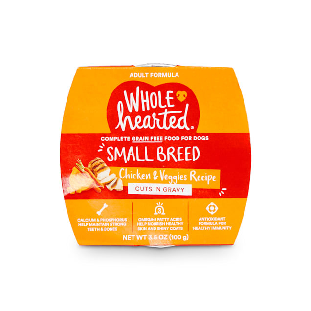 WholeHearted Grain-Free Chicken & Veggies Cuts in Gravy Wet Dog Food, 3.5 oz., Case of 8 - Carousel image #1