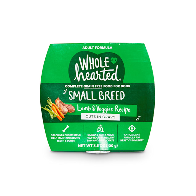 WholeHearted Grain-Free Lamb & Veggies Cuts in Gravy Wet Dog Food, 3.5 oz., Case of 8 - Carousel image #1