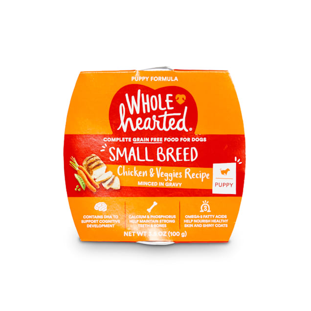 WholeHearted Grain-Free Chicken & Veggies Minced in Gravy Wet Puppy Food, 3.5 oz., Case of 8 - Carousel image #1