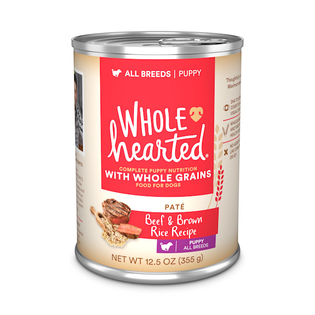 WholeHearted Beef & Brown Rice Recipe Puppy Pate Wet Food, 12.5 oz., Case of 12 - Carousel image #1