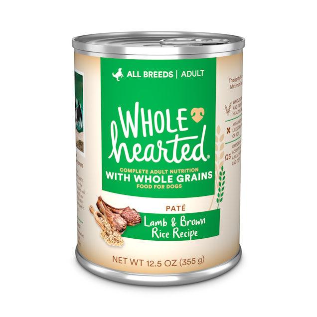 WholeHearted Lamb & Brown Rice Recipe Pate with Whole Grains Wet Dog Food, 12.5 oz., Case of 12 - Carousel image #1